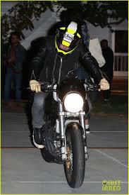 halloween party in orlando orlando bloom revs up his motorcycle after big halloween party
