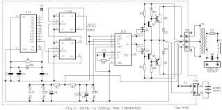 how to build 12vdc to 220vac 50w converter circuit diagram