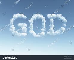 clouds makes word god sky 3d stock illustration 43891681