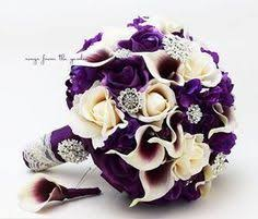 wedding flowers purple purple wedding bouquet gold bridal bouquet purple and gold