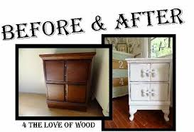 4 the love of wood shabby chic nightstands white bedside before