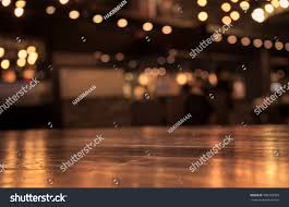 Dark Wooden Table Top Empty Wood Table Top Blur Cafe Stock Photo 396509329 Shutterstock