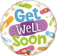 balloons get well soon 18 inch get well soon bandages foil balloon