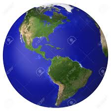 North America And South America Map by Earth Planet Globe Map Side Of The North And South America