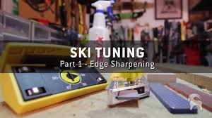 how to tune skis part 1 how to sharpen ski edges youtube