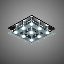 Contemporary Ceiling Lights by Contemporary Ceiling Light Square Glass Led Ecosign
