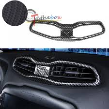 carbon fiber style air condition vent frame outlet cover trim for