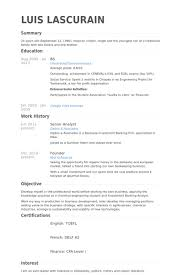 Chemical Engineering Internship Resume Samples by Senior Analyst Cv Beispiel Visualcv Lebenslauf Muster Datenbank