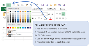 5 excel keyboard shortcuts for font or fill colors excel campus
