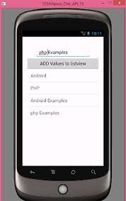 how to add to a on android add item in listview in android programmatically using edittext