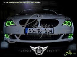 light green bmw 04 07 bmw 6 series plasma halo rings headlights bulbs
