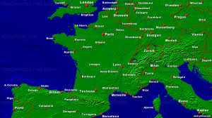 Brest France Map by Primap National Maps