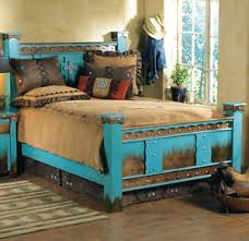 Country Bed Frame Western Outlaw Bed Frame Country Rustic Cabin Log Wood Bedroom