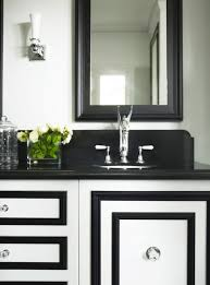 Black Bathroom Vanity With Sink by Add Pizazz To Plain Bathroom Cabinets By Adding Molding In A