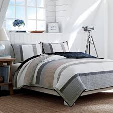 amazon com nautica tideway reversible quilt full queen tan grey