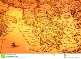 Map Of Ancient Italy by Old Map Of Greece Royalty Free Stock Photo Image 25329105