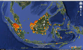 political posturing while asian forests keep burning