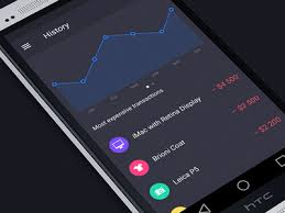 finance app for android walle finance app history android by zaytsev dribbble