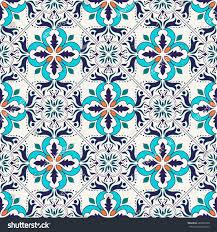 pattern portuguese tiles azulejo moroccan ornaments stock