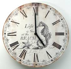 themed wall clock simple nautical wall clock decor lustwithalaugh design
