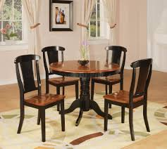 two tone black u0026 cherry finish modern 5 pc dining set