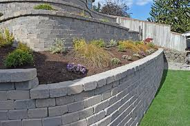 Retaining Wall Garden Bed by Tiered Retaining Wall On Lake Lawrence Near Yelm Ajb Landscaping