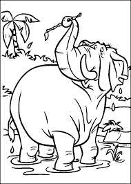 jungle book hathi fat jungle book coloring pages