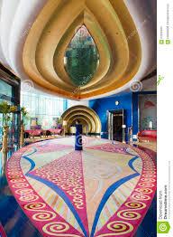 hotel burj al arab interior imagen editorial imagen 64290405