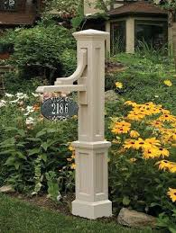 light post with address sign l post with house number hexagon outdoor l post light posts