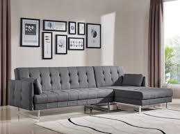 Modern Grey Sectional Sofa Casa Lennox Modern Grey Fabric Sectional Sofa Bed