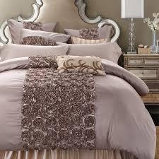 Duvet Set King Size Aliexpress Com Buy Sunnyrain 4 6 Pieces Handwork Rose Shaped