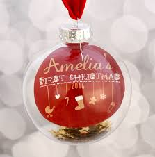 Personalised Baby S First Christmas Tree Bauble by Personalised Baby U0027s First Christmas Bauble By The Little Paper