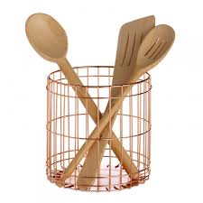 modern funky kitchen accessories red candy lincoln copper utensil cup wire cutlery pot design ideas