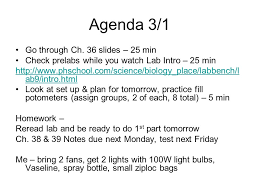 Lab Bench Transpiration Agenda 2 28 1 To Computer Lab Library Lab To Do Practice For Ch