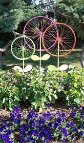 before taking that bike to the junkyard consider this garden