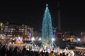 trafalgar square christmas tree the lighting ceremony and the