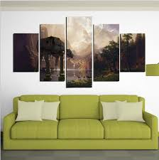 star wars living room 5 piece canvas printed star wars wall art painting pictures home