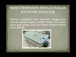 cara reset printer canon mp258 error e13 cara reset printer canon mp258 youtube