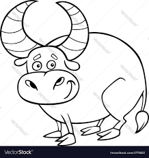 zodiac taurus or bull coloring page royalty free vector