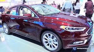 2017 ford fusion platinum exterior and interior walkaround