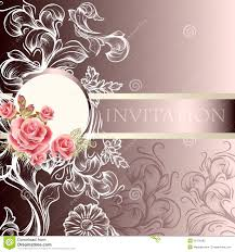 Wedding Invitation Card Free Download Elegant Wedding Invitation Card In Pastel Tones Stock Photography