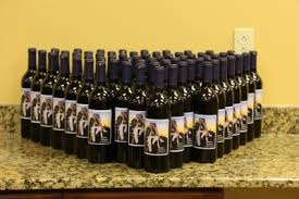 wine bottle favors wine bottle wedding favors you make with custom labels