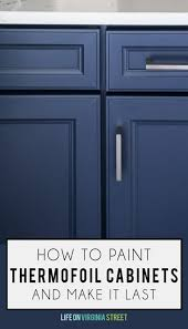 what paint to use on melamine kitchen cabinets how to paint thermofoil cabinets on virginia