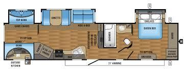 2017 eagle travel trailers 333bhok floorplan rv life pinterest