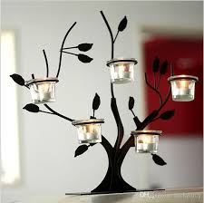 tree branch candle holder pastoral style tree branches iron candelabra of european bar table