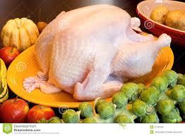 thanksgiving turkey dinner cooking ingredients royalty free stock