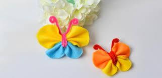 diy hair ornaments how to make lovely felt butterfly hair clip
