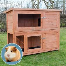 Guinea Pig Hutches And Runs For Sale Glade Large 2 Story Guinea Pig Hutch With Enclosed Run Buy