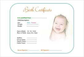 birth certificate template 31 free word pdf psd format
