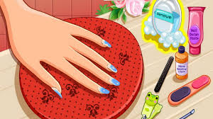 back to frozen nails design game video great fun for girls